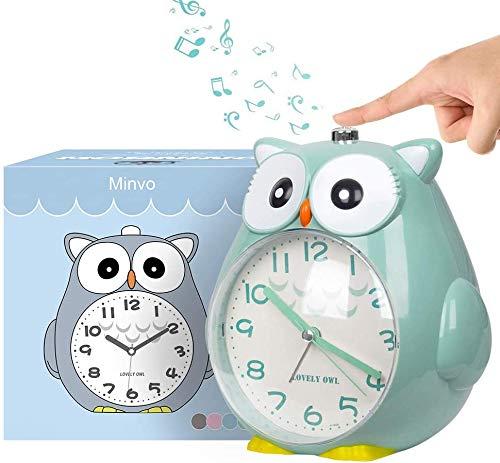 KOROTUS COLLECTION Wecker Kinder ohne Ticken Kinderuhr mit nachtlicht, Schlafzimmer Snooze Funktion Uhr Leise und Einfach zu Bedienen laut Alarm für Kinder, Batterie betrieben