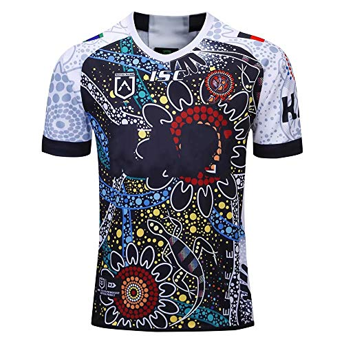 Axdwfd Rugby pak Rugby Uniform, 2019 World Cup Aboriginal Camouflage Nieuw-Zeeland Rugby Suit, Ademend T-shirt heren korte mouwen Training Suit voor de 2e Wereldbeker
