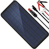 MOOLSUN 12 Volt 12v Solar Battery Charger, 10W Solar Car Battery Charger, Solar Trickle Charger, Solar Panel Battery...