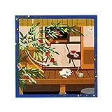 三毛猫みけの夢日記 小ふろしき 中巾 風呂敷 (みけの七夕(39-5))
