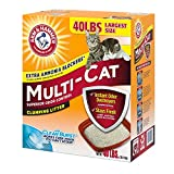 Arm and Hammer Clumping Cat Litter, Multi-Cat Strength, 40 Pound Box