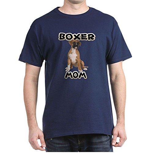 CafePress - Boxer Mom - 100% Cotton T-Shirt Navy
