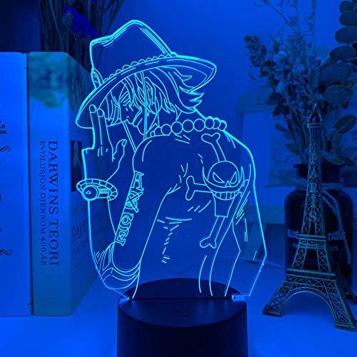 Luz De Noche LED Con luz De Ilusión 3D Portgas Dormitorio de los niños Decoración del hogar Anime Japón Regalos Cool Manga Party Boy and Girl Lámpara de mesita de noche