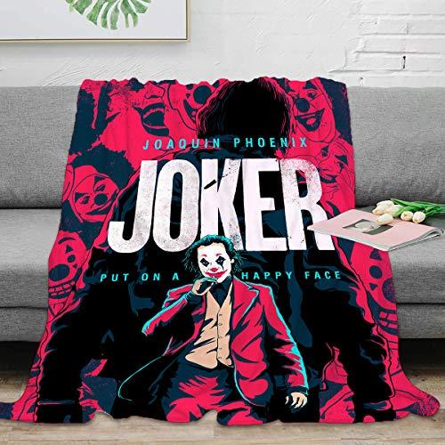 Manta térmica ligera de forro polar 130 x 153 cm, Joker (película 2019) Manta mullida y acogedora para adultos niños o mascotas, Joker Movie Joaquin Phoenix Pop Art