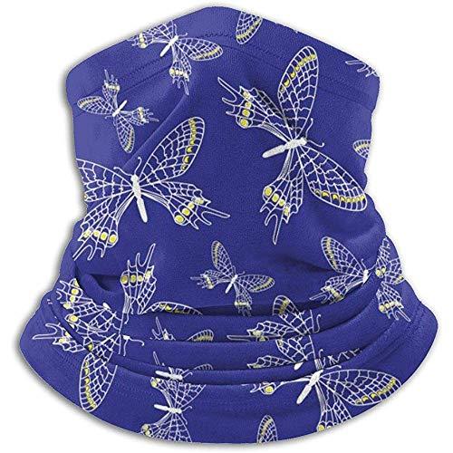 Linger In Blue Butterfly Seamless Neck Gaiter Face Mask Bandana Seamless Headband Ski Riding Running