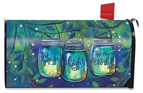 Briarwood Lane Be a Light Spring Mailbox Cover Inspirational Candles Standard