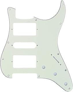 Musiclily Pro 11 Agujeros HSH Strat Pickguard Golpeador para Guitarra Fender American/México Standard Stratocaster Estilo Moderno, 3 capas Marfil