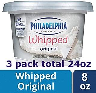 3 packs of Philadelphia, Cream Cheese, Whipped, 8 oz -total 24oz