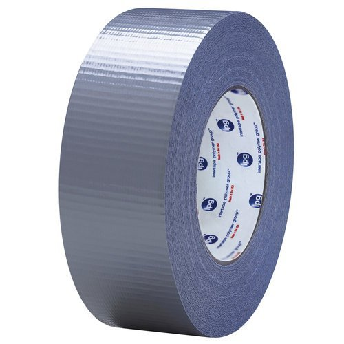 Intertape Polymer Group 83689 Silver PE Film Backing/Natural Rubber/Resin Adhesive/PET Cloth Reinforcement Duct Tape, 18 psi, Tensile Strength, 179.79' Length, 1.88