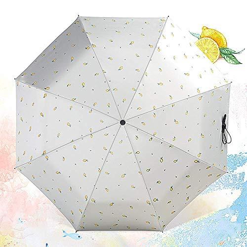 Winddicht Compact 8 Rippen Reise Regen Sonnenschirm Manuelles Öffnen für Frauen Männer Folding Golf Teflon Beschichtung,Purple
