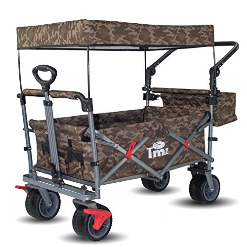 TMZ All Terrain Utility Folding Wagon, Collapsible Garden Cart, Heavy Duty Beach...