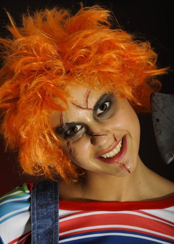 Adulte Halloween perruque Chucky Orange