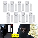 Door Window Alarms System, Home Security Wireless Alarm DIY Kit Magnetic Sensor Protector