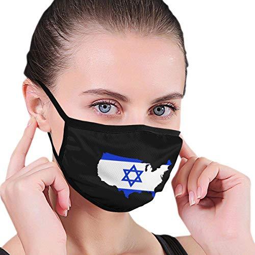 Israel vlag Amerikaanse kaart mannen vrouwen kinderen tiener grafieken ademende wasbare herbruikbare neus - afdekking voor de reiniging