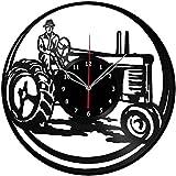 ZZLLL Tractor Disco de Vinilo Retro Reloj de Pared Cumpleaños Año Nuevo Navidad Regalo de cumpleaños Personalidad Creativa Diseño del hogar Decoración de Pared