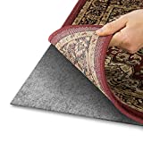 Alpine Neighbor Area Rug Pad with Grip Tight Technology (8x10) | Non-Slip Padding Perfect for Hardwood Floors | Thick Felt Cushion for Rugs Nonskid Kitchen Persian Carpet Mat Natural Grey