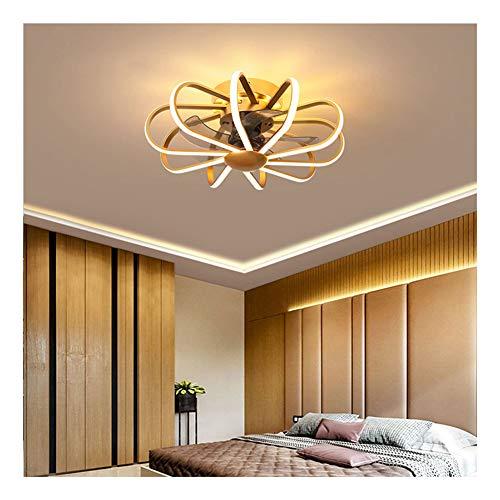 CXSMKP 55CM Nordic Deckenventilator Lampe Mit Lichtern Fernbedienung, 3-Gang-Wende Motor Schlafzimmer Dekor Modernen Ceeling Fans Mit Lichtlampe Stille