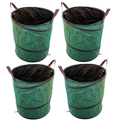 vabiono 4 x 170 Ltr. PopUp Gartenabfallsack Polyester Oxford 600D Gartensack in Premium Qualität - robust und faltbar