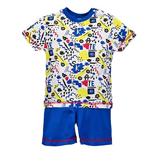 BIMBUS Pigiama 2 Pezzi Jersey Corto con Stampa, Color Multicolor -...