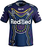 YUEN 2021 Melbourne Storm Rugby Set Short Sleeve Rugby Jersey Australia Competition Jersey and Shorts Men Women Adults and Children Loose and Respirable Jersey M A