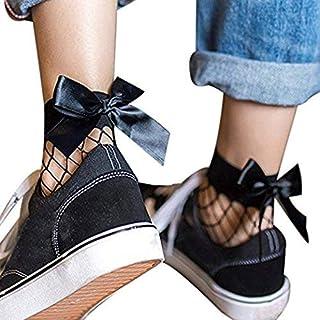 Calcetines De Ocio Calcetines Altos Bluestercool Rejilla De Mujer Mode De Marca Malla De Encaje Red De Pesca Calcetines Cortos Corbata Corta De Lazo Cómodo
