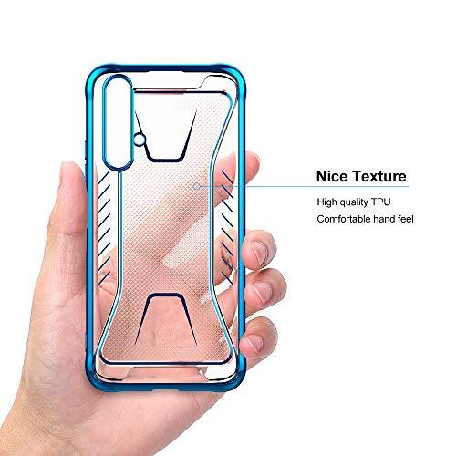 CRESEE für Huawei Nova 5T / Honor 20 Hülle Case, Schutzhülle Transparente Dünn Weich Silikon Cover Bumper Stoßfest Handyhülle Fall für Huawei Nova 5T/ Honor 20 (Blau) - 4