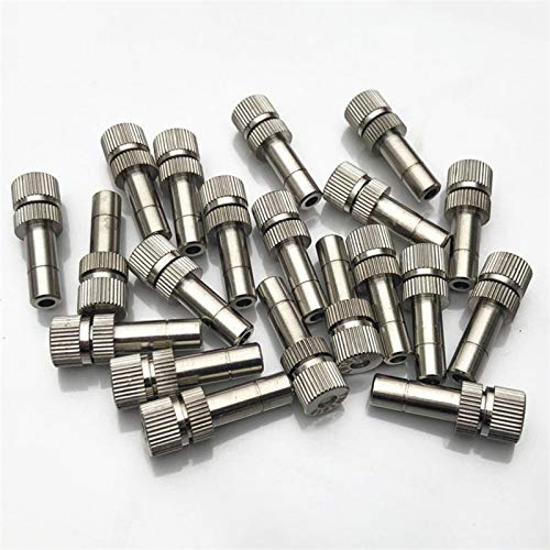 BHGFU 40 Piezas Boquilla de Latón para Nebulización Atomización Spray Mister Boquilla para Sistema de refrigeración al Aire Libre (Size : 0.1mm)