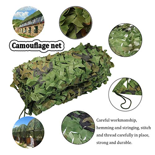 5 * 8m/16 * 26ft Woodland Camouflage Camo Army Net Hide Netting Camping Military Cover Shelters For Outdoor Camping Military Hunting (Color : -, Size : 3x6m/10x19ft)