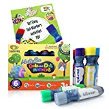 Dab and Dot Markers Superboy Shimmer Washable Paint Art Dauber Markers in Silver, Red, Orange, Blue, Green by Dab and Dot Markers -
