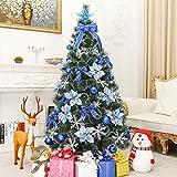 YDYG Weihnachtsbaum Künstlicher Baum Mit Metallstandplatz Pine Grün Schnee Stil Mit Mehrere...