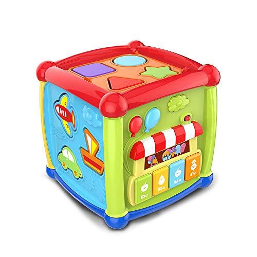 Bemixc メロディぱずるボックス 遊びいっぱい音楽おもちゃ 型はめ 音の出る赤ちゃんおもちゃ たのしく知育 ...