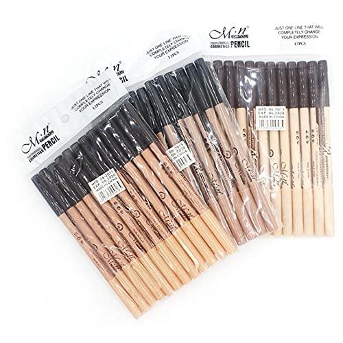 À double usage eyeliner noir à deux têtes Pen Crayon à Sourcils Concealer Pen Long Lasting Quick Dry Glitter naturel des yeux Crayon