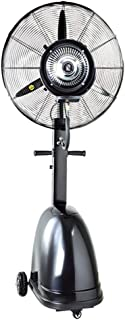 Pedestal Fans Misting Fan Oscillating Indoor Standing Floor Fan for Cooling Your Area Fast - 3-Speeds, Fits Your Home Decor