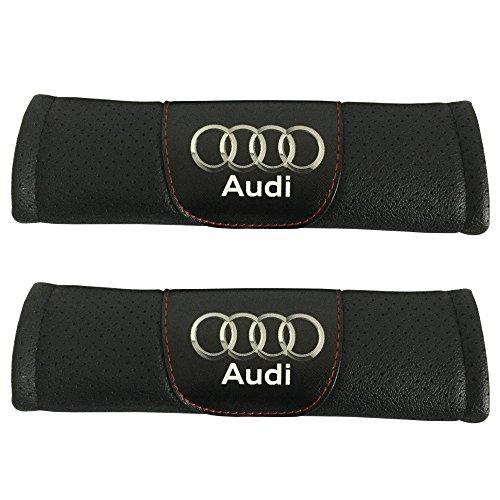 Preisvergleich Produktbild 2 Set Audi Autositz Sicherheitsgurt umfasst die Leder Schulter Pad Zubehör Passform für Audi Auto Modell