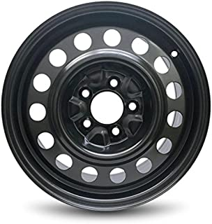 Road Ready Car Wheel For 2011-2017 Hyundai Elantra 16 Inch 5 Lug Black Steel Rim Fits R16 Tire - Exact OEM Replacement - Full-Size Spare