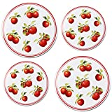 Reston Lloyd Harvest Apple Electric Stovetop Cover, 2-10' & 2-8', Red white