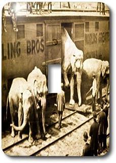 3dRose lsp/_16232/_6 Vintage Barnum Elephants Outlet Cover