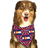 Da Ze Mao Yi Bufanda para Mascotas Geometric Europa Watercolour Bandana Triangle Bibs Scarfs Accessories for Pet Cats and Puppies