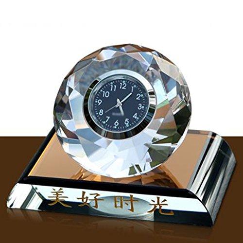 Perfume De Cristal Del Coche Reloj De Bola De Cristal Del Reloj Del Coche Perfume Del Coche Suministros Creativos Accesorios Del Coche De La Decoración
