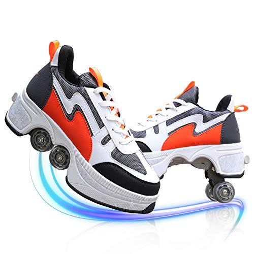 Zapatos con Ruedas Unisex Luz Automática De Skate Zapatillas con Ruedas Zapatos Patines Deportes Zapatos para Niños Niñas para Patinar/Fiesta/Disco