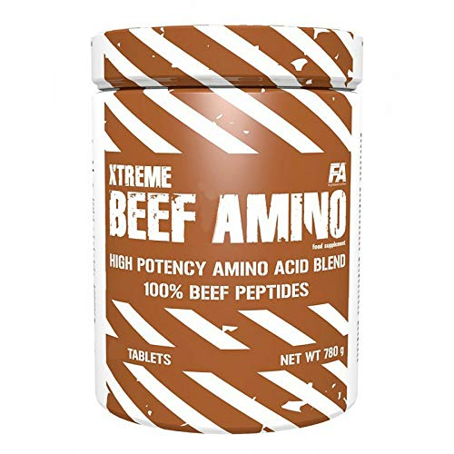 FA Xtreme Beef Amino ACIDS 300 Tablets - Branched Chain Amino Acids BCAA - Anabolic & Anticatabolic - Food Supplement