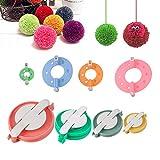 ASFINS Pom-pom Maker, 8 piezas de diferentes tamaños DIY Pompom Maker para Fluff Ball Weaver Needle Craft DIY Wool Knitting Craft Knitting Wool Tool Kit de Herramientas