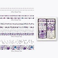 Baby Fan かわいい葉と紙テープの10個/セット花のマスキング紙の装飾テープステッカースクラップブックDIYフォトアルバム (14)