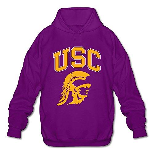 TBTJ Herren Kapuzen-Sweatshirt, USC, mit Logo der University of South-Kalifornien-Logo, Herren, violett, XL