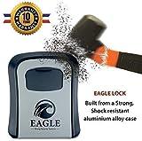 🥇 N°1 AIRBNB 🥇 Boite à clés sécurisée a Code [Extérieur] + Crochet en métal • Kit Fixation inclu • Guide en français • Boîte à clé avec Combinaison • Haute Sécurité