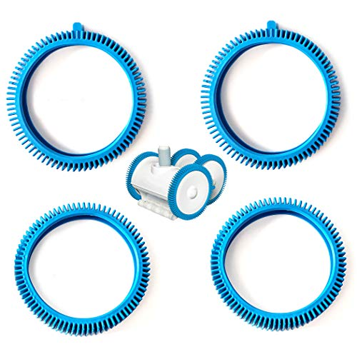 AR-PRO Front Tire and Rear Tire Combo Kit Replacement for The PoolCleaner Poolvergnuegen Front Tire Kit with Super Hump 896584000-143 (2-Pack) and Rear Tire Kit 896584000-082 (2-Pack)