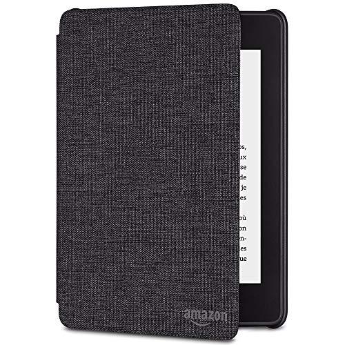 Étui en tissu protégeant de l'eau pour Kindle Paperwhite (10ème génération - modèle 2018), Noir anthracite