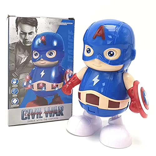FUBINMY Figuras Dancing Music Herry Man Robot Toy Led Flashlight Tony Stark Ironman Figuras de acción Figuras electrónicas para niños Regalo Muñecos (Color : Style 3 Original Box)