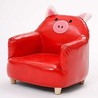 JOUET Cuir petit canapé, fauteuil d'animaux pour enfants, meubles de la chambre pour enfants mini orange rouge (couleur: a...