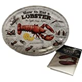 'How to Eat a Lobster' Melamine Lobster Plate and Lobster Bib Set of 4